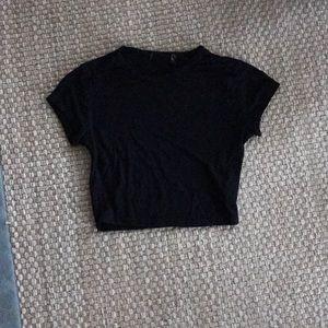 Tops - Black basic crop top